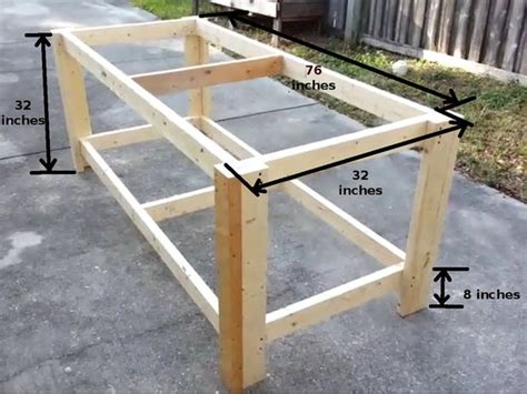 diy sturdy table legs how to build a sturdy workbench inexpensively 2