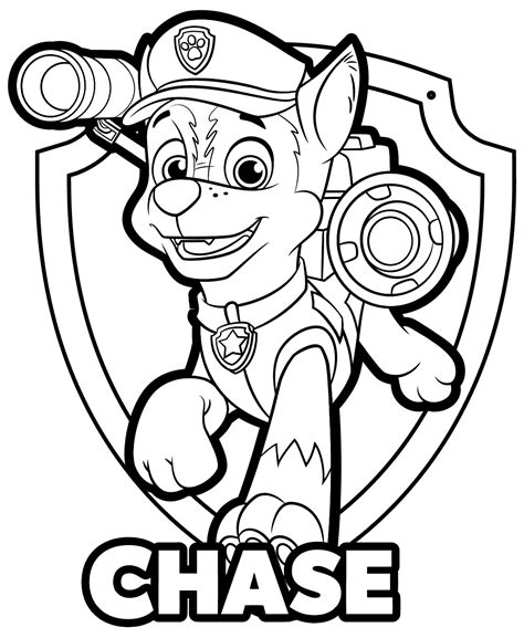 paw patrol printable coloring pages chase paw patrol chase coloring pages get coloring pages
