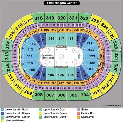 niagara center seating chart concerts niagara center seating chart
