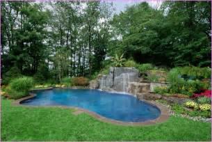 Inground swimming pool landscape ideas home design ideas