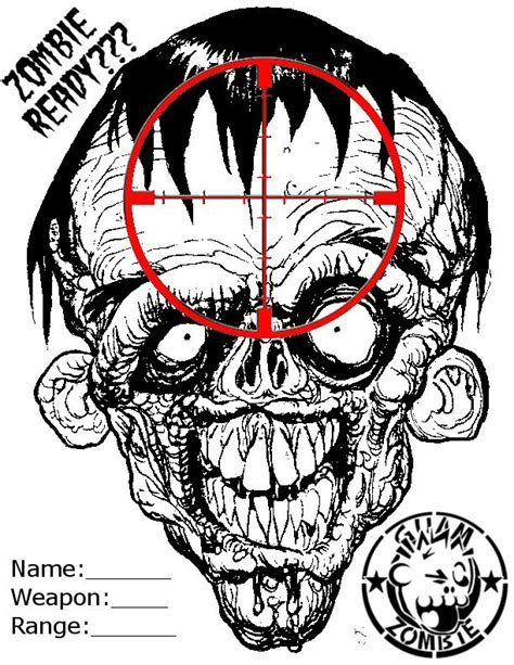 printable head targets the gallery for gt printable zombie head target