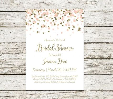 Balon Foil And Groom For Wedding Bridal Shower Balloon blush pink and gold bridal shower invitation printable confetti glitter wedding