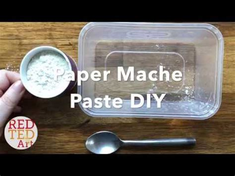 How To Make Paper Mache Without Glue - how to make paper mache paste without glue fast easy