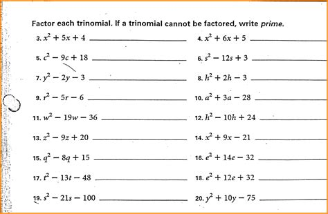 Factoring Polynomials Worksheet With Answers by Uncategorized Factoring Polynomials Worksheet With