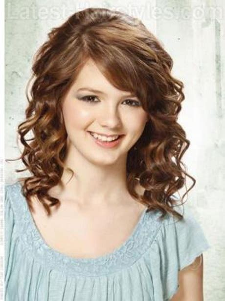 easy hairstyles for medium length hair curly cute medium length haircuts for curly hair