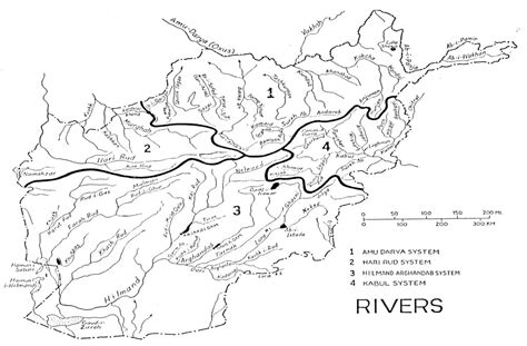 map of with rivers center for afghanistan studies of nebraska