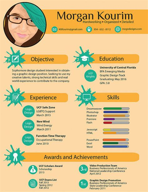 infographic resume template 15 amazing infographic resumes to inspire you