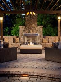 outdoor patio fireplace beautiful homes design