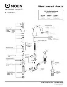 moen kitchen faucets parts diagram moen faucet parts diagram images