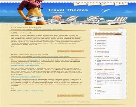 cute themes for wordpress free download cute travel wordpress themes free to download