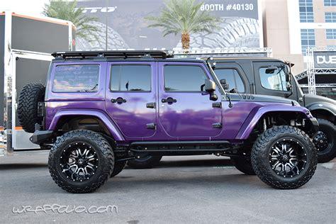 Jeep Wrangler Wraps Purple Wrangler Wrap Wrapfolio