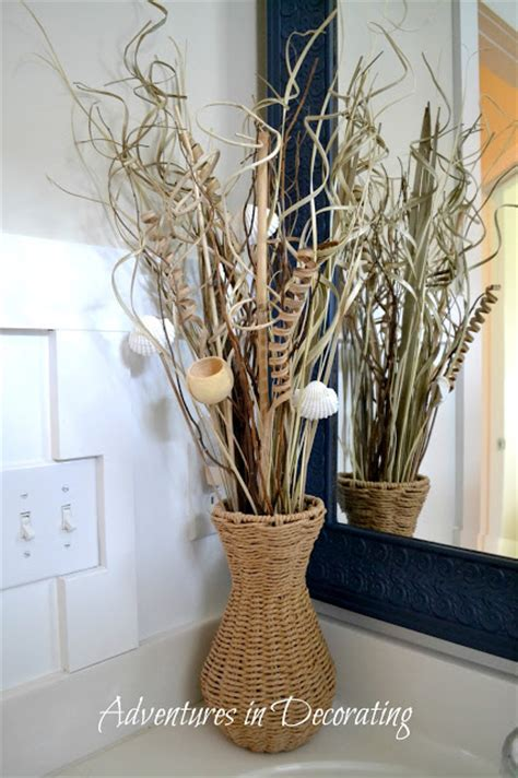 decorative sticks for the home adventures in decorating the bathroom gets a little