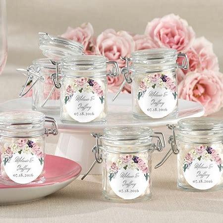 garden floral themed glass jar wedding favors