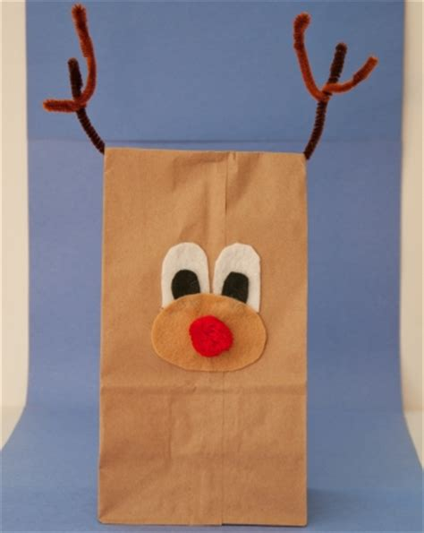 Reindeer Paper Bag Craft - paper bag reindeer activity education