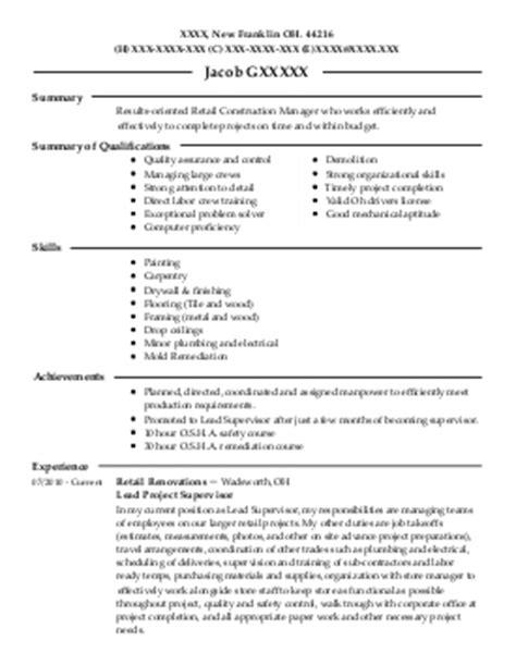 Resume Sles For Drywall Resume Construction Management Sales Management Lewesmr