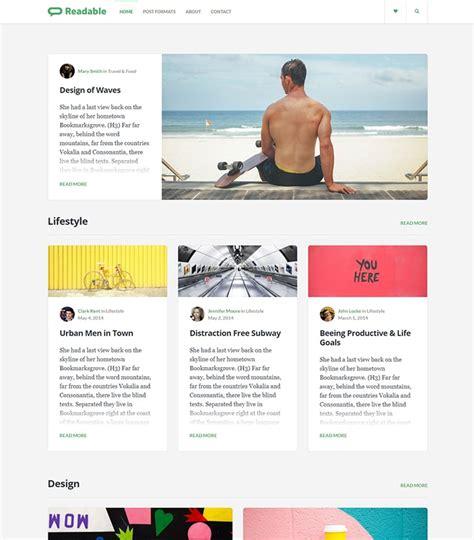blog theme like medium readable blog wordpress theme for writers inspired by