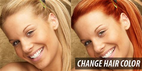 chagne hair color 45 photoshop image modification adding unique and