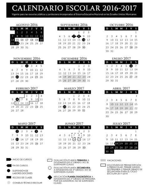 periodo vacacional 2016 en el gobierno del df gob mx calendario escolar 2016 2017 gob mx gobierno gob mx