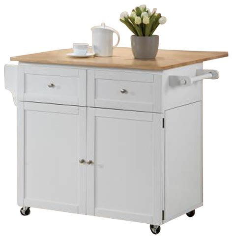 kitchen cart 2 door storage with 2 drawers and
