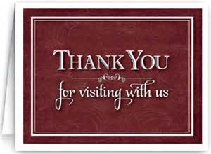 thank you for visiting ministry greetings christian cards church postcards visitor cards
