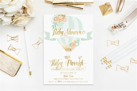 Balon Foil And Groom For Wedding Bridal Shower Balloon air balloon invitation baby shower mint gold