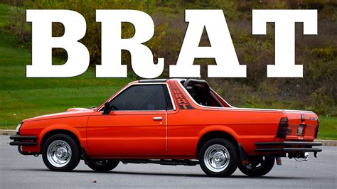 brat car 1987 subaru brat might be the weirdest car ever made