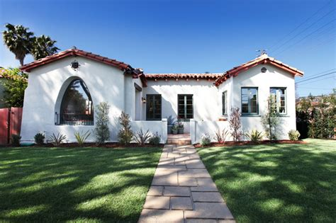 spanish mediterranean architecture bungalow courtyard a spanish style bungalow after mediterranean exterior