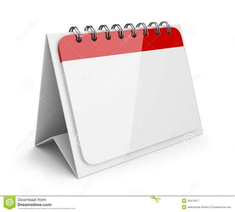 Calendar Paper Blank Paper Calendar 3d Icon Royalty Free Stock
