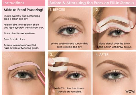 eyebrow templates 187 eyebrows tips and tricks for tattooing and everyday wear