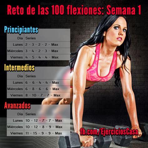 sacar las 100 flexiones rutinasentrenamiento reto de las 100 flexiones semana 1 ejercicios en casa