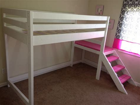 futon bunk white c loft bed with matching doll sized loft