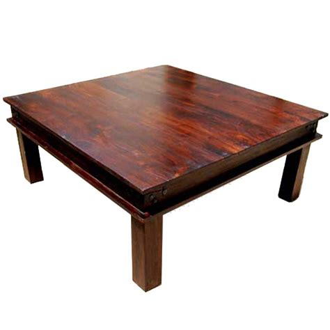 classic traditional solid wood 34 quot square coffee table
