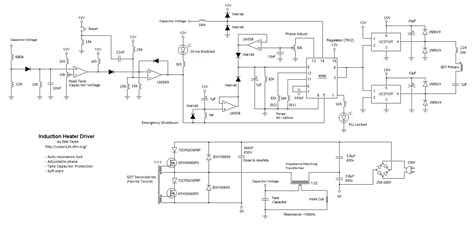 induction heater driver circuit uzzors2k hobby projects site