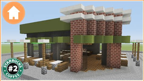 how to build a shop minecraft tutorial how to build a starbucks in minecraft 2 youtube