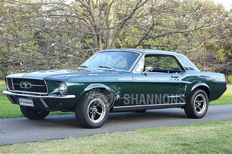 1967 mustang moss green convertible 289 v 8 automatic ps pb power top for sale sold ford mustang coupe lhd auctions lot 34 shannons