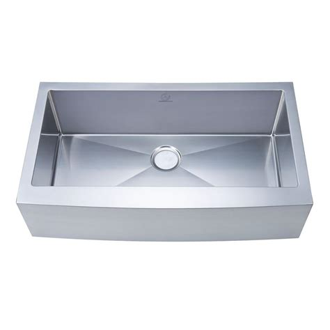 36 In Kitchen Sink Stufurhome Nationalware Apron Farmhouse Stainless Steel 36 In Single Bowl Kitchen Sink In