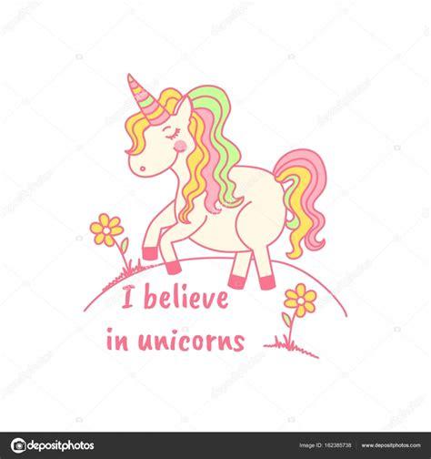 imagenes que digan unicornio creo en unicornios ilustraci 243 n vectorial de unicornio