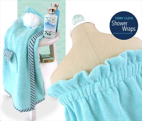 terry cloth shower wraps for sew4home