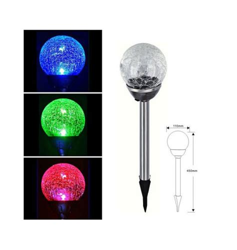 color changing solar lights globe smart garden solar crackle globe stake lights colour