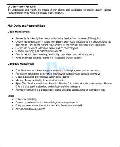 Marketing Advisor Sle Resume by Marketing Consultant Description Exles Of 28 Images 7