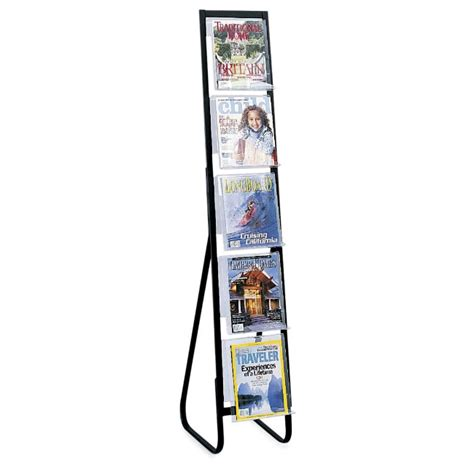 Free Standing Magazine Rack by Safco In View Free Standing Magazine Rack Abc Office