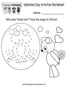 valentine s day activities worksheet free kindergarten