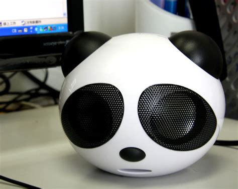 cool speakers coolest gadgets panda usb speaker latest top geek