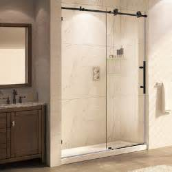 rubbed bronze shower door trident mocha 76 quot x 56 60 quot frameless sliding rubbed