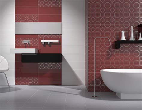bathroom tiles red red patterned bathroom wall tiles ream