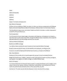 employment termination letter template 35 termination letter sles lease employee