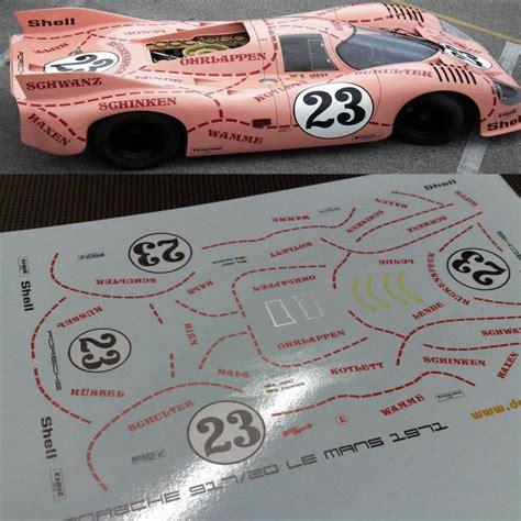 Porsche 917 Pink Pig by Porsche 917 Pink Pig Tailormadedecals