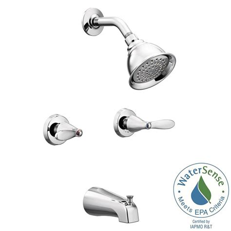 Two Handle Faucet by Two Handle Shower Faucet Moen