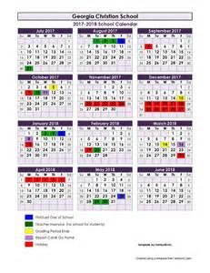 School Calendar 2018 2017 2018 School Calendar Christian School