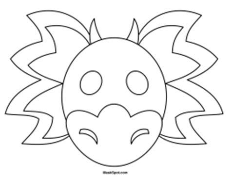 printable dragon mask template printable dragon mask